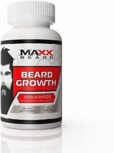 MAXX Beard - Integratore per la crescita dei peli facciali, massimizza la crescita e il volume della barba
